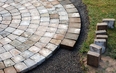 Brick Paver Patio Construction Hanover County Virginia.